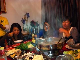 boiling hot soup