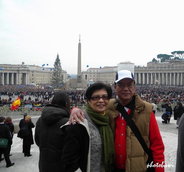 jun and i after mass at st. peter's basilica