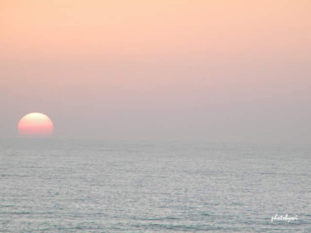 sunset at netanya, israel