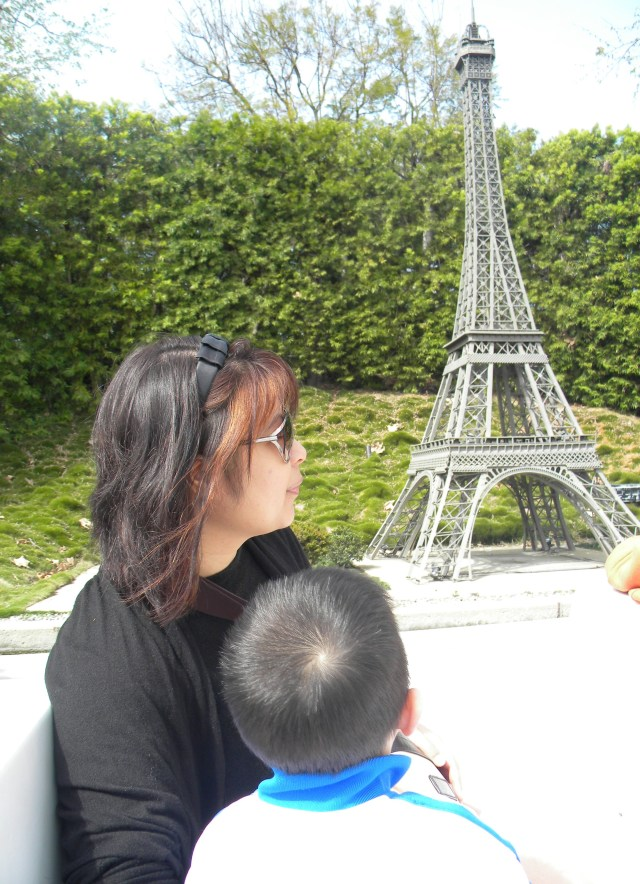 with tita P passing the eiffel tower on a boast cruise