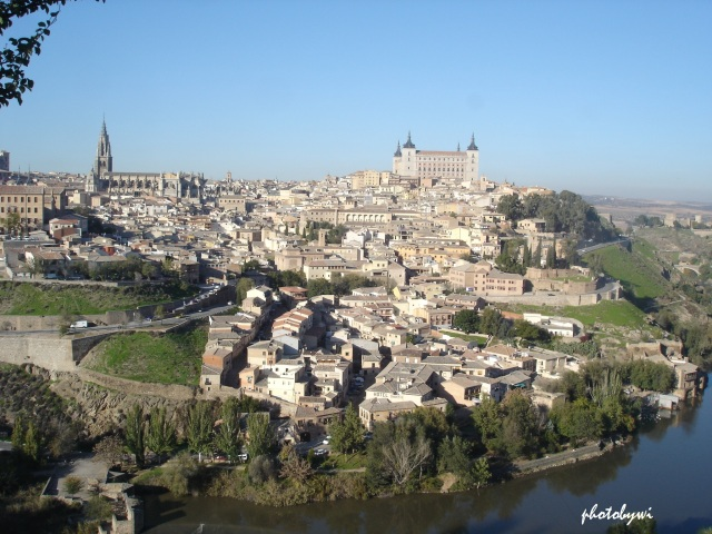 toledo, spain from a distance