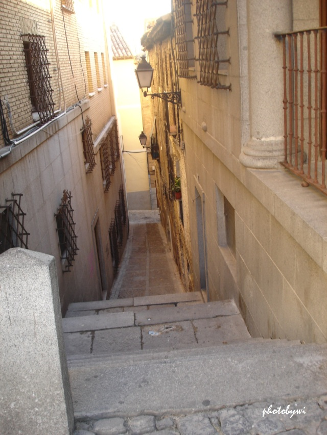 access to the main street is a small alley bisecting residential buildings