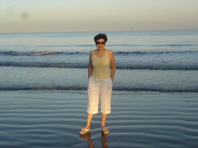 silvery sea, early morning in san fabian