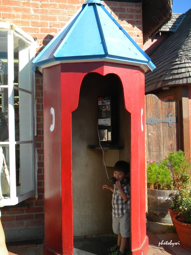 phone booth in solvang, california