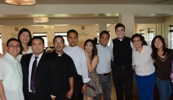 with fr tirso and ross, seminarian, filipino at heart