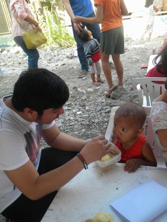 jesse feeding a boy