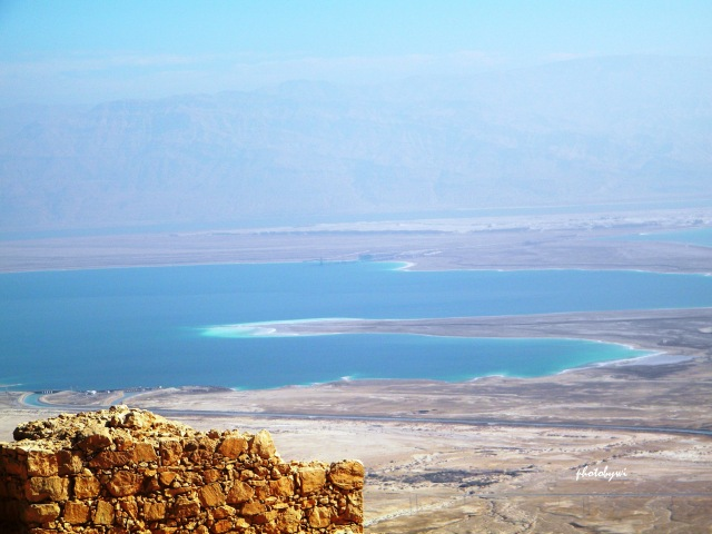 dead sea, taken from masada, israel
