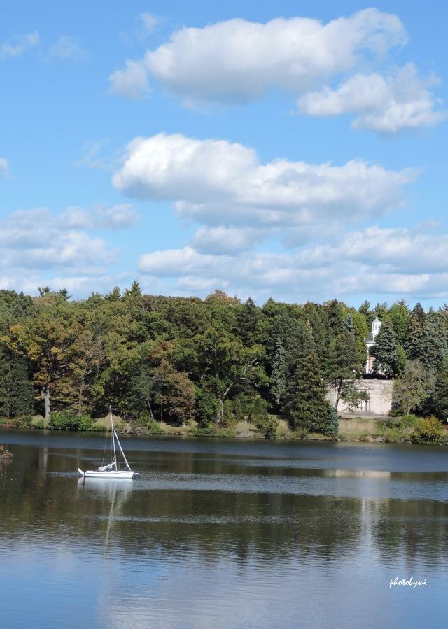 the lake at mundelein seminary